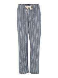 Howick Stripe Nightwear Trousers Navy