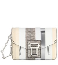Proenza Schouler Hava Leather Clutch White