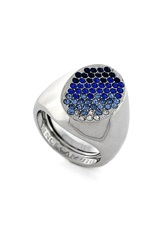 Vince Camuto Ombre Pave Ring Silver Blue