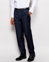 Dkny Classic Fit Suit Trousers Tailor To Fit Hem Blue
