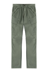 J Brand Jeans Stretch Cotton Cargo Pants Green