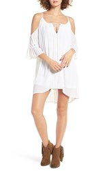 Band Of Gypsies Women's Cold Shoulder Shift Dress