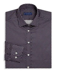 Etro Regular Fit Printed Dress Shirt Purple