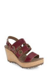 Fly London Women's 'Guse' Sandal Magenta Leather