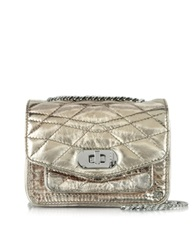 Zadig And Voltaire Xs Skinny Love Quilted Metallic Leather Crossbody Bag Copper