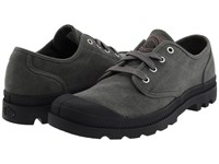 Palladium Pampa Oxford Stonewashed Metal Men's Lace Up Casual Shoes Black
