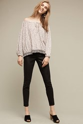 Anthropologie Level 99 Janice Mid Rise Ultra Skinny Jeans Black