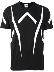 Les Hommes Urban All Over Print T Shirt Black