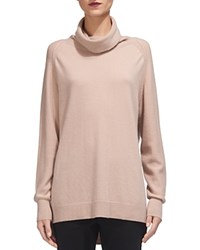 Whistles Cashmere Cowlneck Sweater Pale Pink