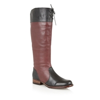 Lotus District Knee High Boots Red