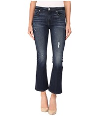 Hudson Mia Crop Flare In Electric Clover Destructed Electric Clover Destructed Women's Jeans Blue