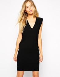 Supertrash Mini Dress With Shoulder Pads Black