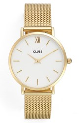 Cluse Women's 'Minuit' Mesh Bracelet Watch 33Mm