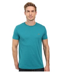 Lacoste Short Sleeve Pima Jersey Crewneck T Shirt Emerald Men's T Shirt Green