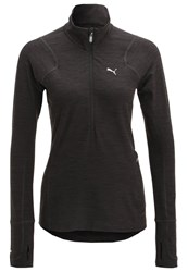 Puma Sports Shirt Dark Gray Heather Black