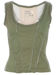 Projet Alabama Stitch Trim Tank Top Green