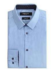 Kenneth Cole Daven Slim Fit Shirt With Contrast Detail Sky Blue