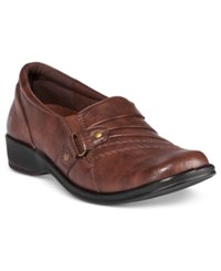 Easy Street Shoes Giver Flats Women's Tan