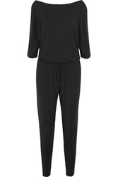 Calvin Klein Underwear Escape Cutout Stretch Modal Jersey Jumpsuit Black