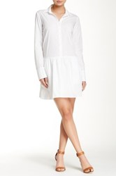 Splendid Cotton Collection Long Sleeve Shirtdress White