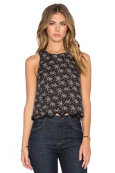 The Great The Scalloped Flutter Tank Black