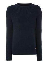 Army And Navy Plain Crew Neck Pull Over Jumpers Navy