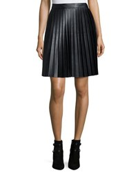 Michael Michael Kors Faux Leather Pleat Skirt Black