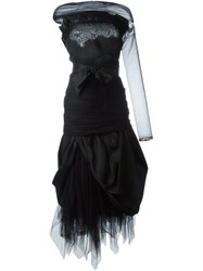 Romeo Gigli Vintage Organza Tulle Dress Black