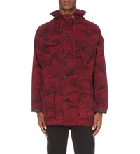 Mhi Camouflage Print Stretch Cotton Jacket Temple Camouflage