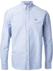 Maison Kitsune Tricolour Fox Shirt Grey