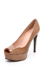 Stuart Weitzman Sadie 120Mm Peep Toe Pumps Tan