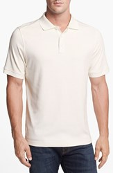 Men's Nordstrom Regular Fit Interlock Knit Polo White Snow