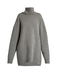 Raey Displaced Sleeve Roll Neck Wool Sweater