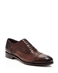 Crosby Square Logan Cap Toe Oxfords Dark Brown