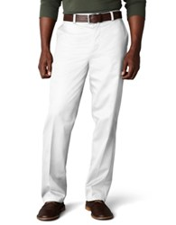 Dockers D3 Classic Fit Signature Khaki Flat Front Pants White