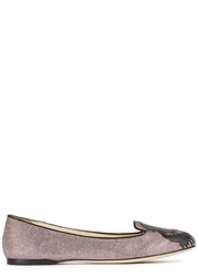 K By Karl Lagerfeld Metallic Red Canvas Loafers