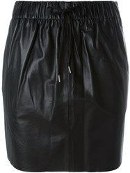 Mcq By Alexander Mcqueen Leather Skirt Black