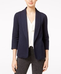Maison Jules Open Front Knit Blazer Only At Macy's Navy Stone