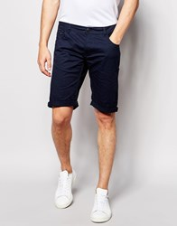 Solid Chino Shorts Navy Blue
