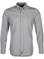 Marc O'polo Long Sleeved Shirt With Striped Pattern Grey
