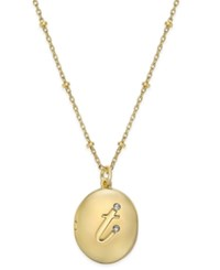 Kate Spade New York Gold Tone Initial 'A' Oval Locket Necklace