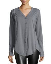 W By Wilt Slouchy Ribbed Knit Cardigan Charcoal