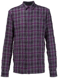 Haider Ackermann Checked Shirt Pink And Purple