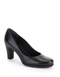 Rockport Total Motion Leather Mid Heel Pumps Black
