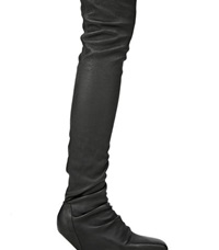 Rick Owens Thigh High Nappa Leather Boots