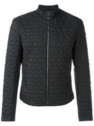 Versace Collection Star Embossed Jacket Black