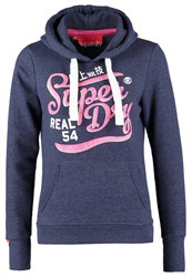 Superdry Brush It Real Good Hoodie Navy Marl Dark Blue