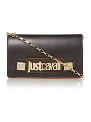 Just Cavalli Black Cross Body Bag Black