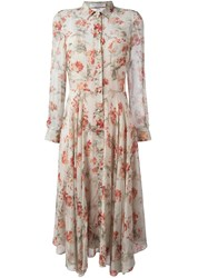 Philosophy Di Lorenzo Serafini Floral Print Shirt Dress Nude And Neutrals