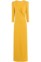 Vanessa Bruno Floor Length Crepe Gown Yellow